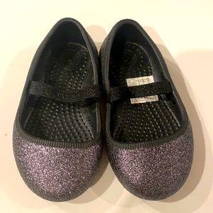 Native Margot ballet flats shoes glitter sz 5